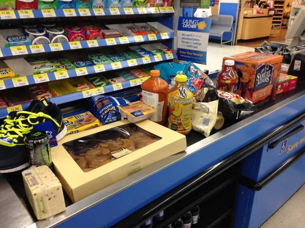 La nostra prima spesa è stata davvero dietetica, forse fin troppo. Beh certo, ovviamente mi riferivo agli standard americani.