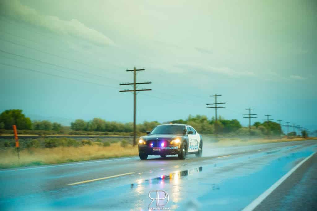 La polizia utilizza Dodge Charger in servizio, non Fiat Punto.