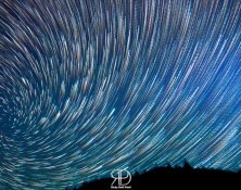 Startrails Vortex at the Salmon River (USA) : here you can see m