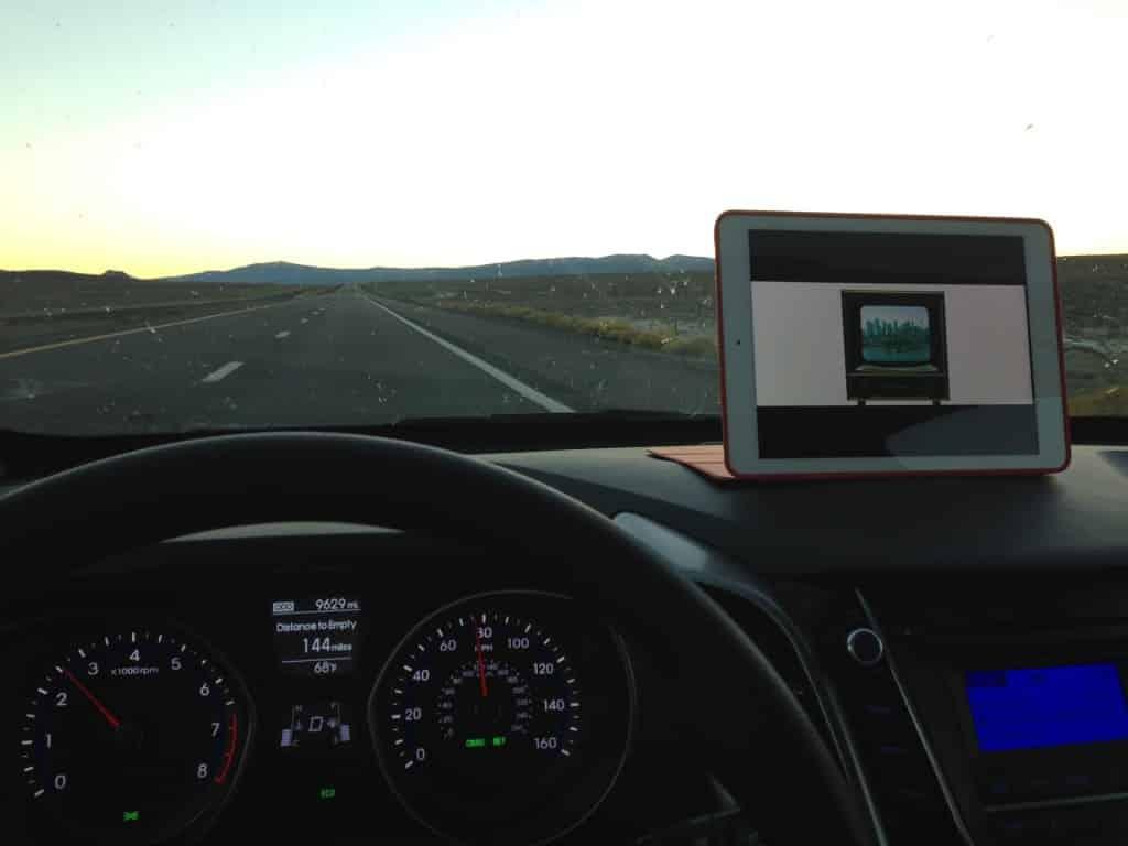 E' sempre bello guardare Matrix in macchina